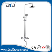 China modern brass chrome bathroom big rain bath shower set wall mounted faucet shower set