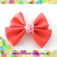 MSD Beautiful red ribbon hair bow for girls,ribbon hairpin