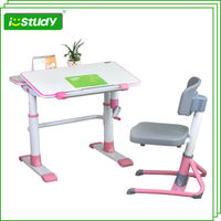 Wood Ergonomic Children Study Table With Bookcase