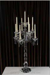 Glittering and translucent get rid of crystal beads crystal candelabra