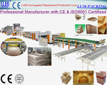 Corrugated cardboard 5 ply corrugated carton production line/carton box making machine line with CE & ISO9001