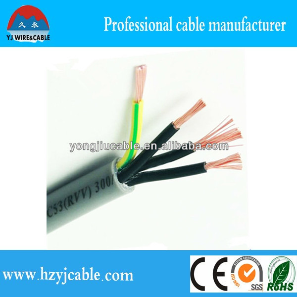 3 core 1.5mm2 flexible cable h03vv-f h05vv-f 3g1.5mm2 power cords