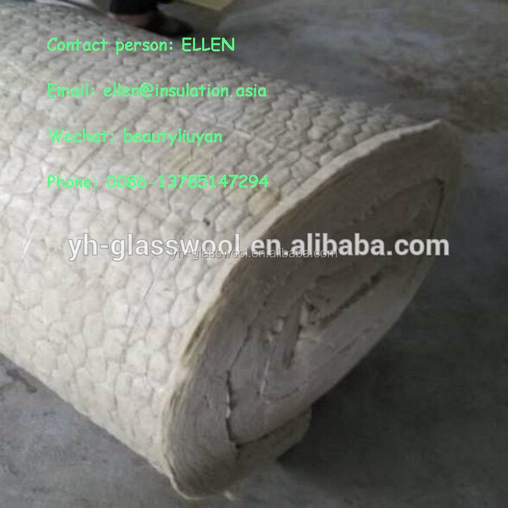 Fireproof rock wool blanket wire mesh thermal insulation for Fireproof rockwool
