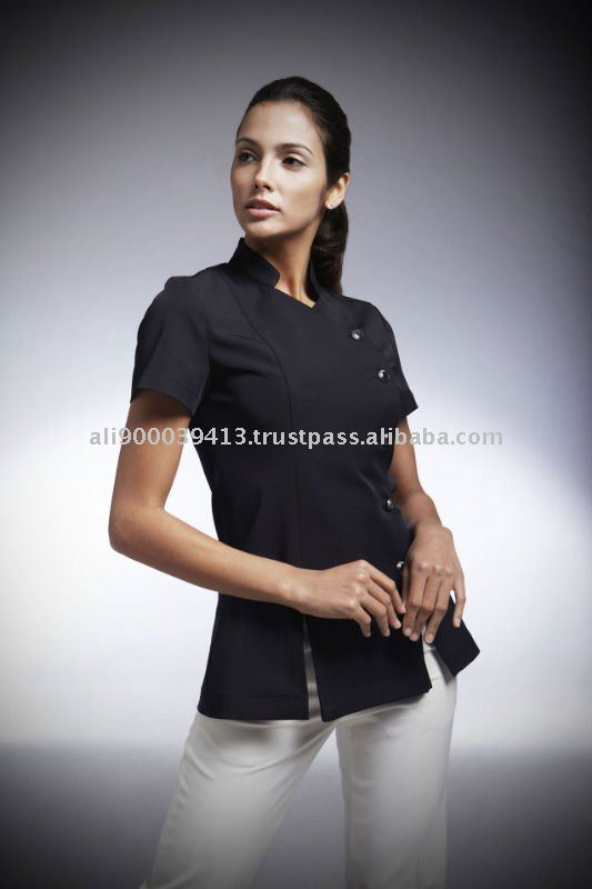 Spa and salon uniform yaetw0006 buy hotel spa uniform for Spa uniform indonesia