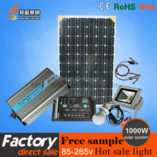 1000W Portable Solar Power System with LCD display and DC/AC output