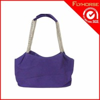 Recyclable Standard size cotton canvas tote bag for shopping use