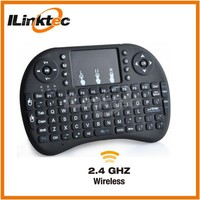 Free shipment 92 keys mini wireless keyboard with touchpad up to 15 meters