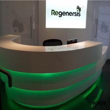 Beauty salon reception desks / Artificial stone round reception desk