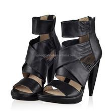 Women Shoes Cone Heel Sandals Black