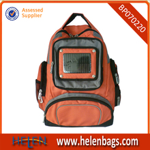 2015 hot sale solar panel backpack with LED lighting.