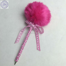 Most selling novelty gift fluffy ball pen