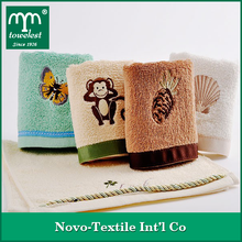100% Baumwolle, Cartoon gestickte Baby-Tuch Kinder Handtuch Fingertip Handtuch