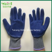 Palm coating rubber cotton yarn working safety gloves