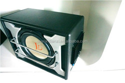Black and white RMS 600W speakers subwoofer with amplifier
