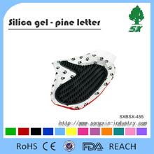 Soft Rubber palm-sized pet bath brush/ pet grooming/pet brush glove