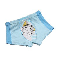 2015 lovely design fashion and comfortable cotton material printed lovely cartoon children boxer underwear for girls
