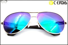 High end aviator double nose bridge TR temple f.d.a eco motorcycle or fishing sunglasses