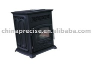 cast iron pellet stove