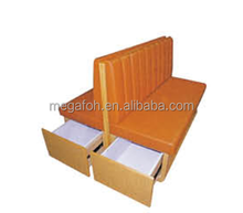 Hot selling fast food restaurant furniture booth seating with drawers(FOH-CBCK34)