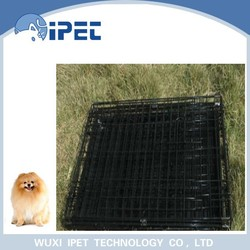 Ipet large folding display iron mesh pet cage with ABS tray