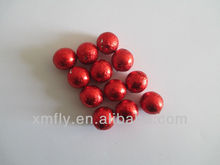 red folis Balls shape milk compound chocolate candy