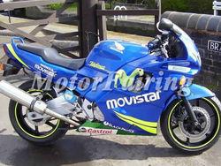 cbr 600 f2 fairings for Honda CBR 600 F2 1991 1992 1993 1994 CBR600F2 91 92 93 94 blue movistar
