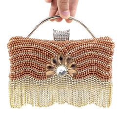 Ladies beaded evening clutch bag