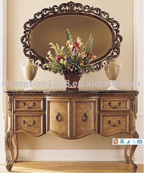 Luxuary antique wooden console tables