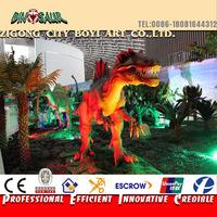 Indoor Playground Life Size Animatronic Dinosaur Simulation Model