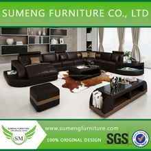 Factory price new styles latest sofa designs, nice design sofa with LED Light with coffee table