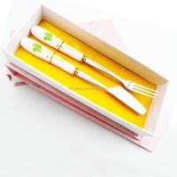 Hot sale Dessert silverware/stainess steel ceramic tableware/samll gift box