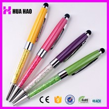 china school supplies wholesale crystal ball pen ballpoint pen stylus touch screen pen for promotional gifts