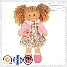 Promotional Logo Customized Soft Plush cheap baby dolls girl toys
