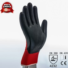 China Manufacturer Flexible 13G Cheap Nitrile Gloves