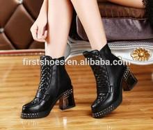 la marca de moda zapatos de cuero suave genuino canalizada de la mujer botas de tobillo de diamante de imitación zapatos balck