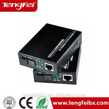 10M/100M fast Ethernet single fiber optic media converter , fiber optic media network switches