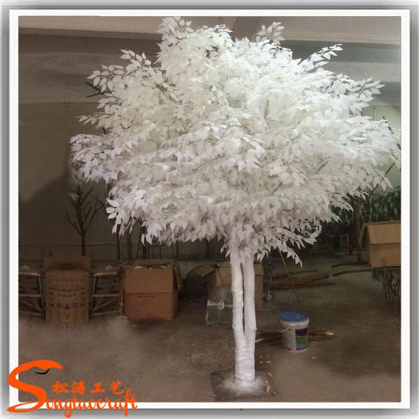 billige k nstliche hochzeit wunschbaum fake plastic wei e b ume innen ornamentalen zierpflanzen. Black Bedroom Furniture Sets. Home Design Ideas
