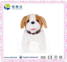 Plush electronic walking puppy dog soft toy