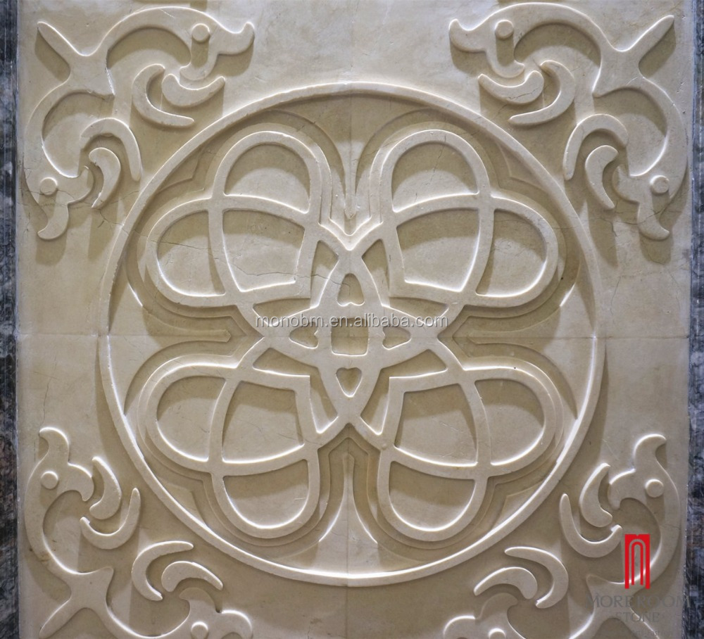 ML-A015 Moreroom 3D marble carving for wall decor 3.jpg