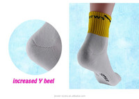 wholesale white terry custom athletic basketball sport compression socks for men