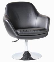 coffee shop white color chair/coffee shop arm chair/design coffee chair with disco base - k48