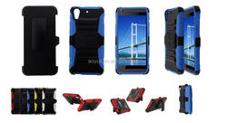 holster with stand phone case for HTC Desire 626, hybrid three in one mobile phone case