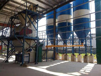 Low cost dry bonding mortar mixing production plant ,dry powder mixing production line