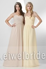 S860 Charming sweetheart short sleeve chiffon modest bridesmaid dresses with sleeves