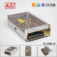 ce approved 200w 5vdc meanwell Style ac/dc SMPS CE Approved