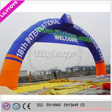 Custom logo advertising inflatable entrance start finish line inflatable arch