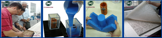 Molding Silicone Rubber for Reproduction of glass products