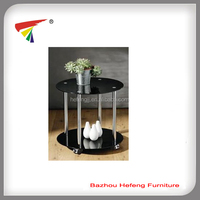 black glass side table center table
