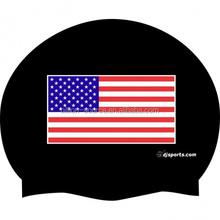 2015 promotional USA Flag Silicone Swim Cap