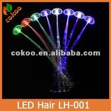 Multicolor LED Flash Light Optical Fibers Braids Luminous Hair Bars Party Birthdays Concerts Hair Creative Accessories